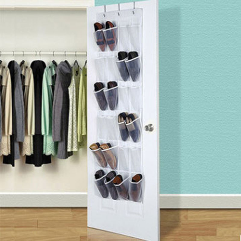 Over Door Hanging Bag Box Shoe Rack Hanger Storage Tidy Closet Holder 24 Pockets