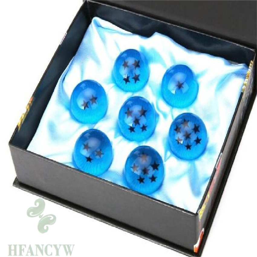 7pcs Anime DragonBall Z Stars Crystal blue Ball Collection Set Classic Gift