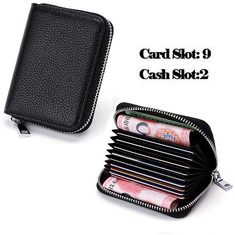 Männer Bifold Business Leder Brieftasche ID Kreditkarteninhaber Geldbörse Tasche