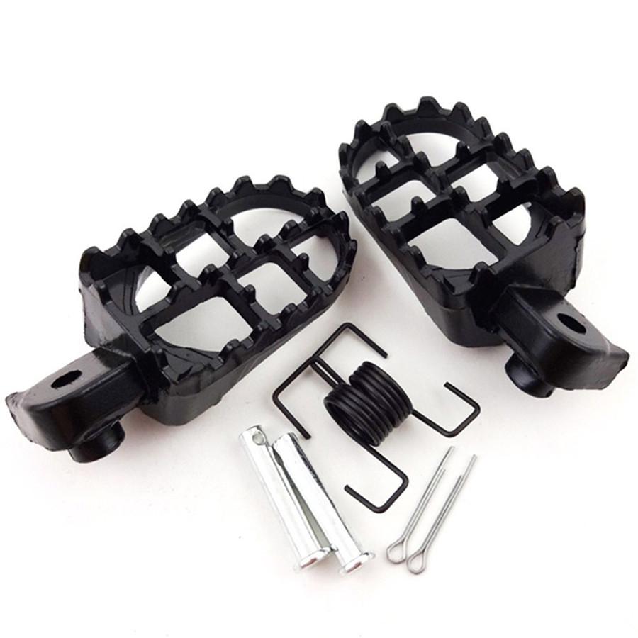 Motocross Foot Pegs Footrest  For Honda CR CRF XR 50 70 80 100 Yamaha Kawasaki