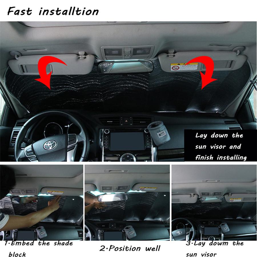 Car Interior Window Sun Visor Big Eye Cartoon Pattern Anti-aging Heat Insulation