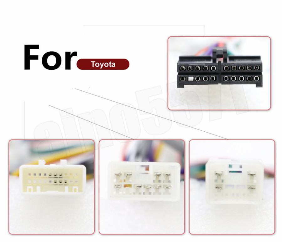 20 Pol Auto Stereo 1DIN 2DIN Android Radio Kabelbaum Stecker Adapter für Toyota