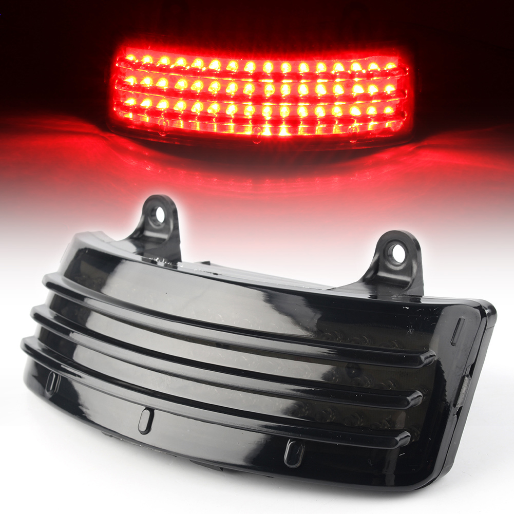 Details about Smoke Tri-Bar LED Rear Tail Light Fender Tip Light Fits on