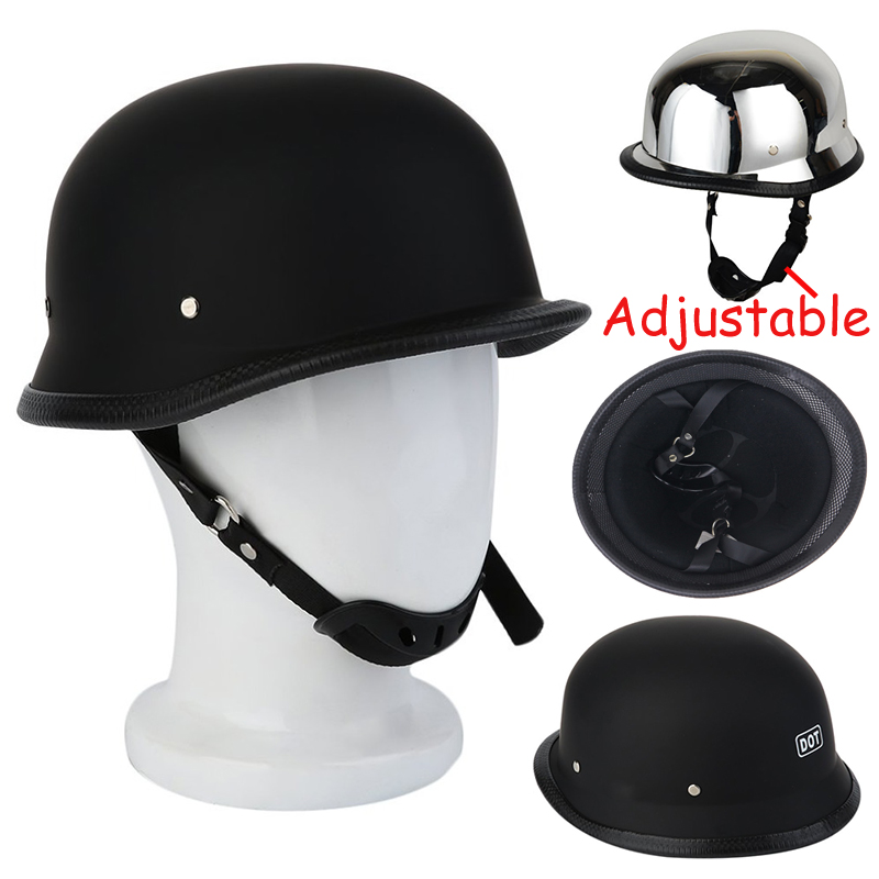 M//L//XL Motorcycle Helmet For German Half Helmet Adjustable Brand New SALE
