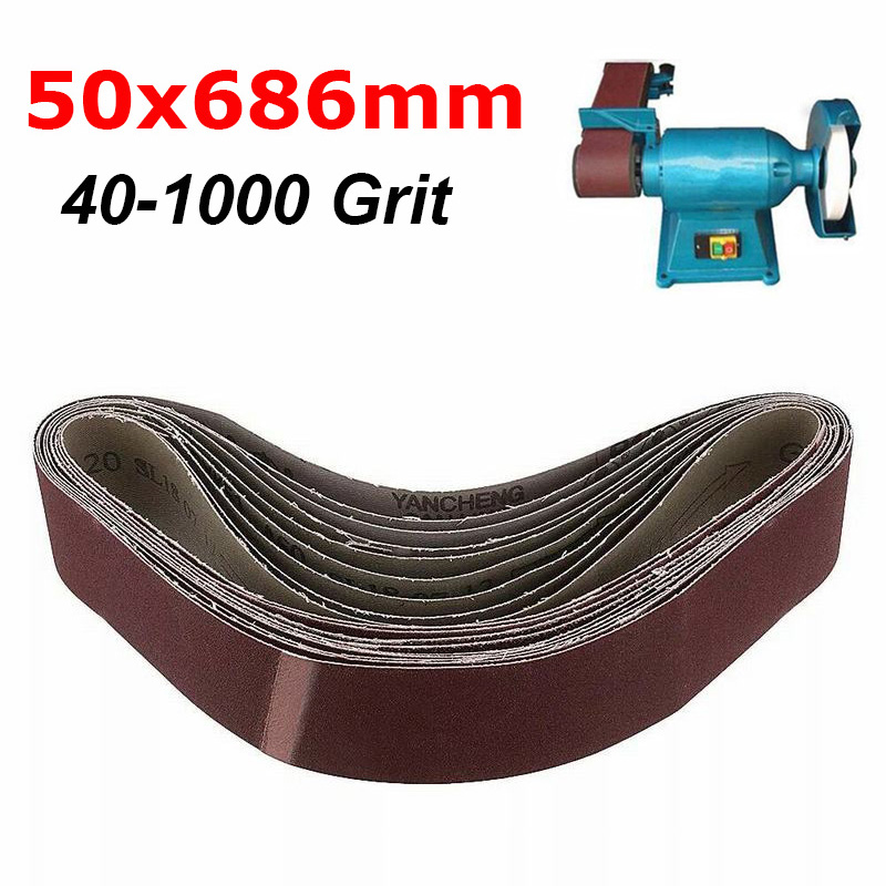 100 x 915mm Sanding Belt 40~1000 Grit For Metal Wood Grinding Abrasive New