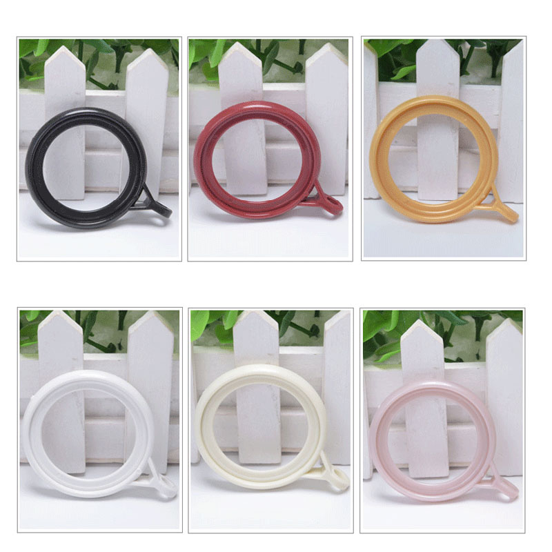 Curtain Rail Rotary Ring Pole Plastic Circle Hanging Loop Clothes Clip Window