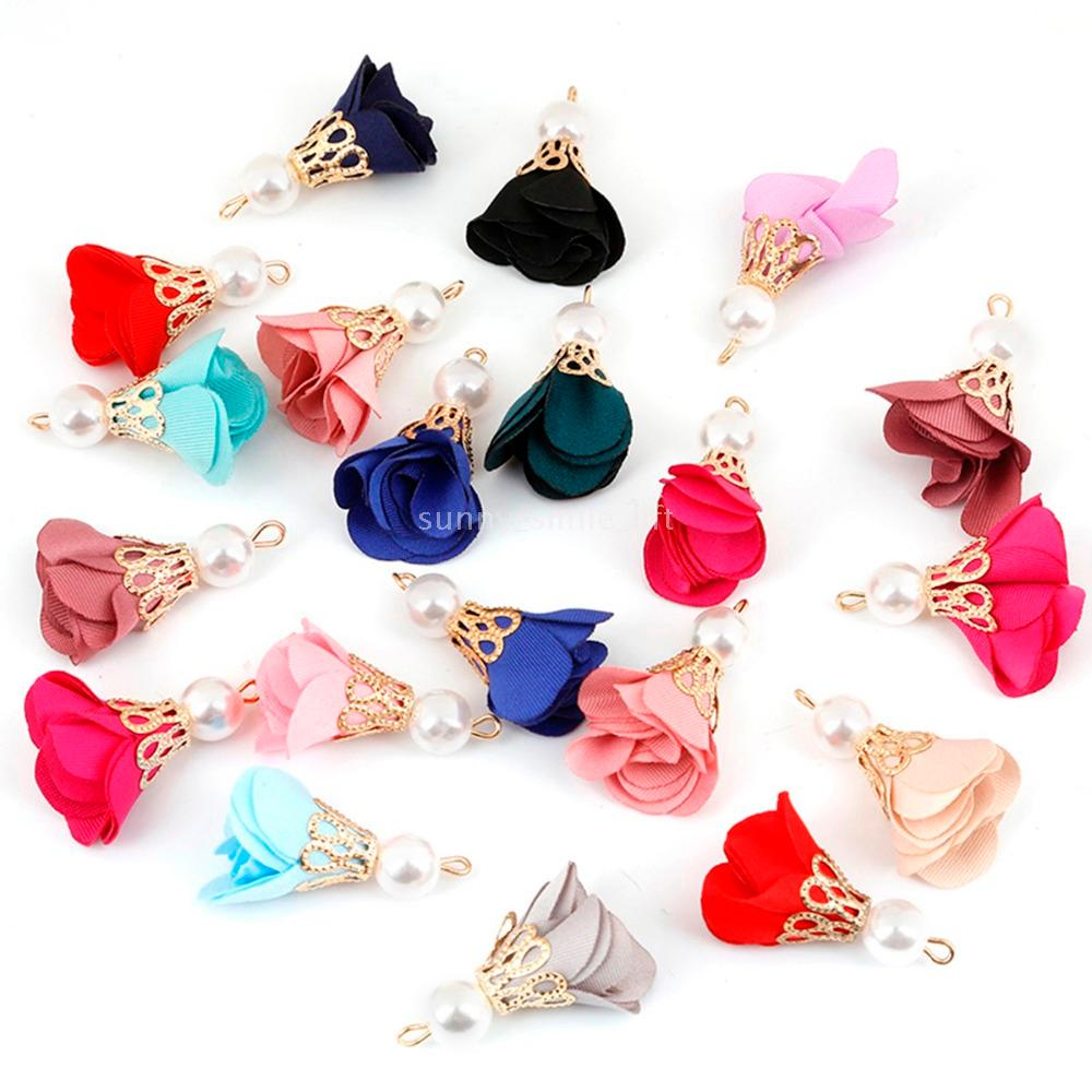 Earrings Necklace Pendant Velvet Tassel Charms for DIY Jewelry Findings 10pcs