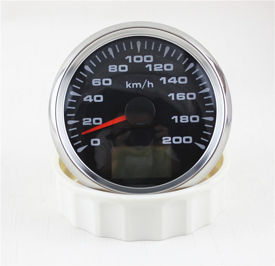 85mm analog led motorrad gps tachometer 0 200km h digital. Black Bedroom Furniture Sets. Home Design Ideas
