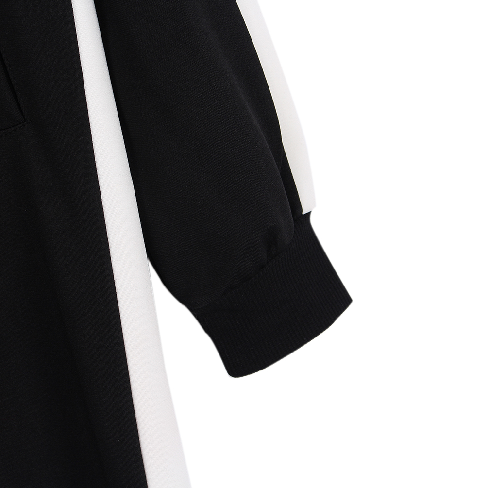 damen harajuku split kleid schwarz locker rei verschluss. Black Bedroom Furniture Sets. Home Design Ideas
