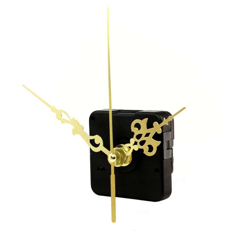 1 set movement spindle mechanism diy wall clock gold hands