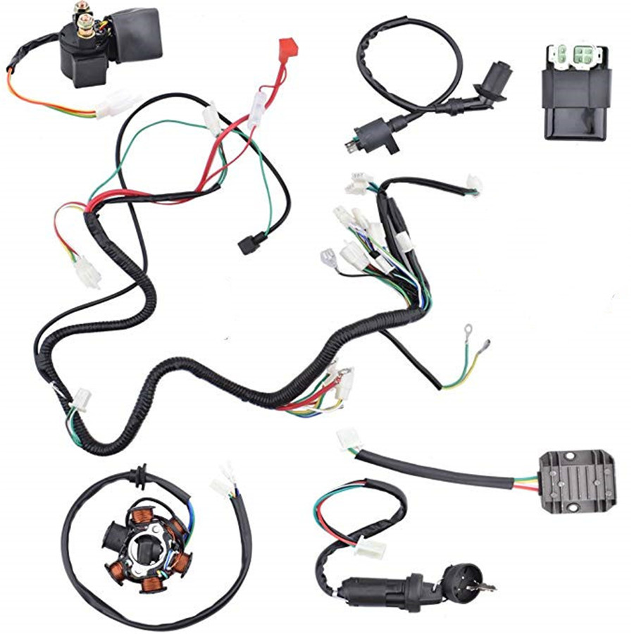 wiring harness kit for atv wiring harness kit electrics wire loom assembly for gy6 125cc  wiring harness kit electrics wire loom