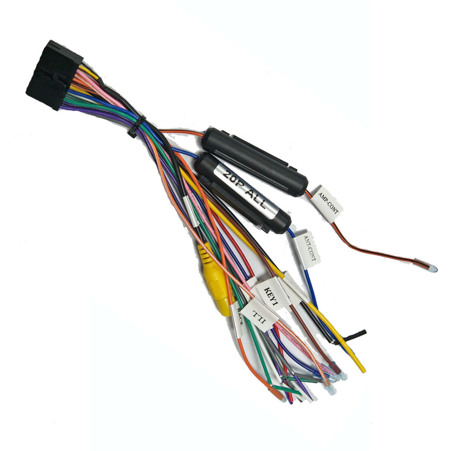 20pin Car Stereo Wiring Harness Connector Adapter For