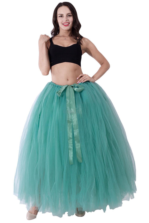 Long Ball Gown Bridal Petticoat Wedding Underskirt Tulle Tutu ...
