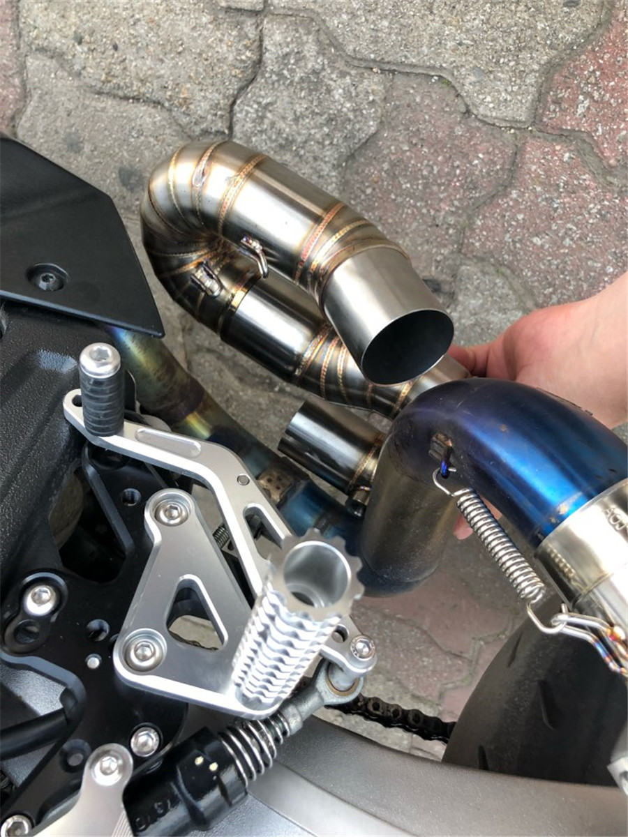 Motorcycle Exhaust Connecting Middle Link Pipe Slip on for Honda CBR1000RR 08-14
