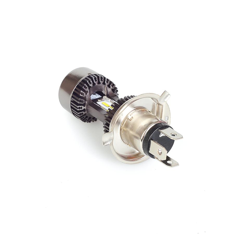 Abblendlicht 1x H4 LED Scheinwerfer Birne 30W mit Lüfter Roller Motorrad Fern