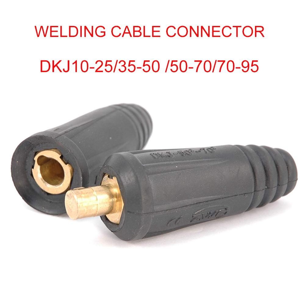 Einbaubuchse Kabelstecker 10-25mm² Schwarz Schweissgerät MIG//MAG MMA WIG