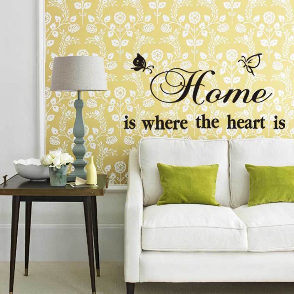 Removable Butterfly Art Vinyl Quote Mural Decal Room Decor Home Wall ...