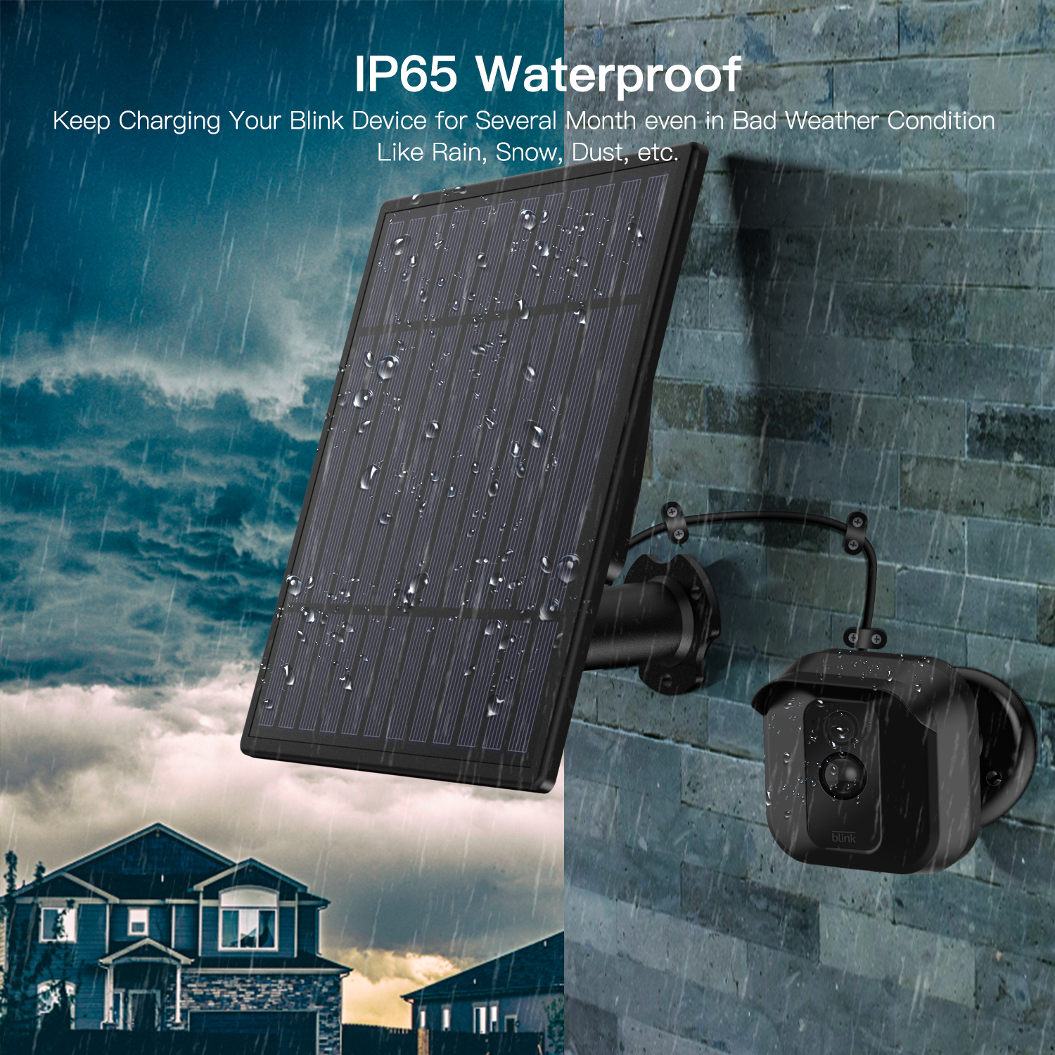 Details about Solar Power Panel Blink XT Wall Mount Outdoor Security Camera  Weatherproof USA