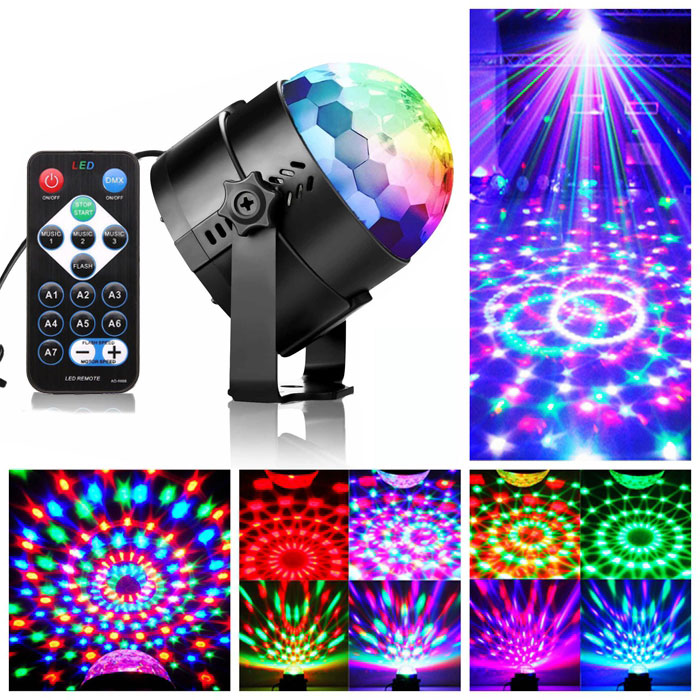 Party Disco Lights Projector LED RGB Stage Club DJ Lighting With Remote UK STOCK