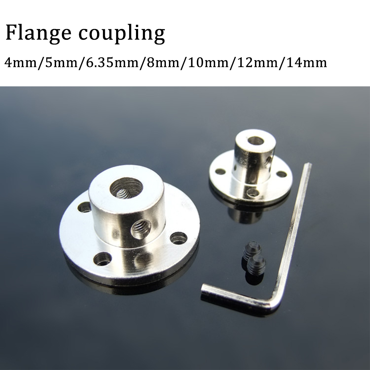 2 x Shaft Motor Rigid Solid Coupling Coupler With M4 Screws /& Spanner 8mm-8mm