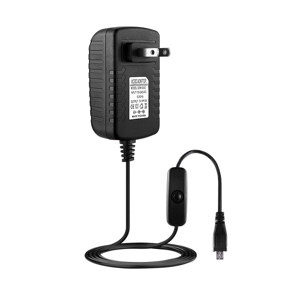 Wall Charger Power Supply Adapter US Plug For Raspberry Pi 3