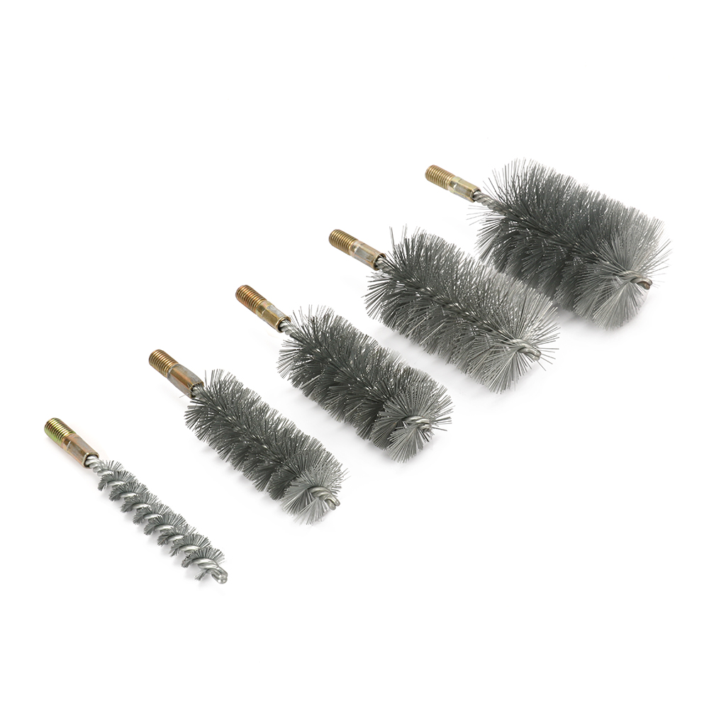 40mm Stainless Steel Round Wire Tube Pipe Cleaning Brush Rotary Tool 1Pc