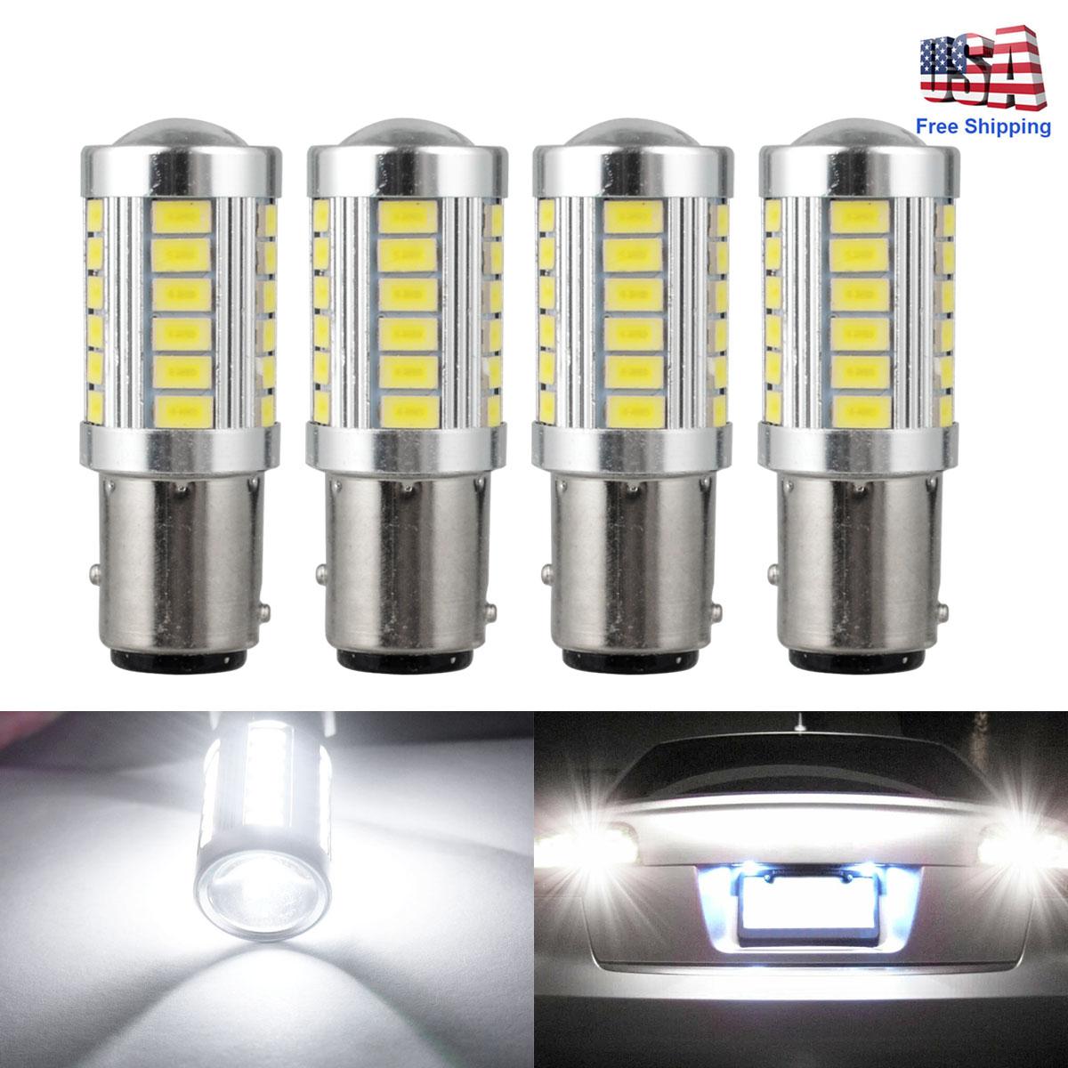 2pcs BA15D P21W 1157 33SMD LED Car Backup Reverse DRL Fog Head Light Bulb White