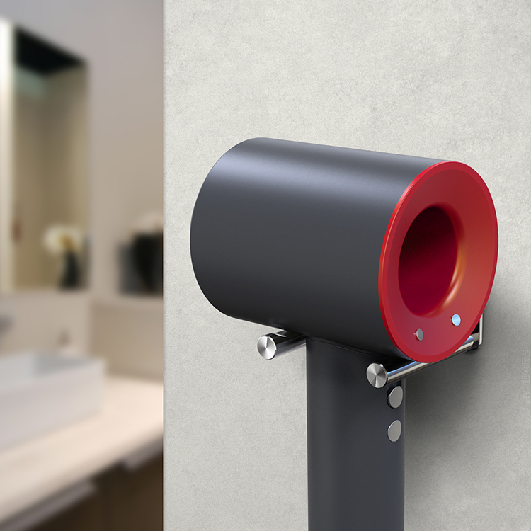 wall mount rack bracket hair dryer holder stand for dyson accessories tool usa ebay. Black Bedroom Furniture Sets. Home Design Ideas