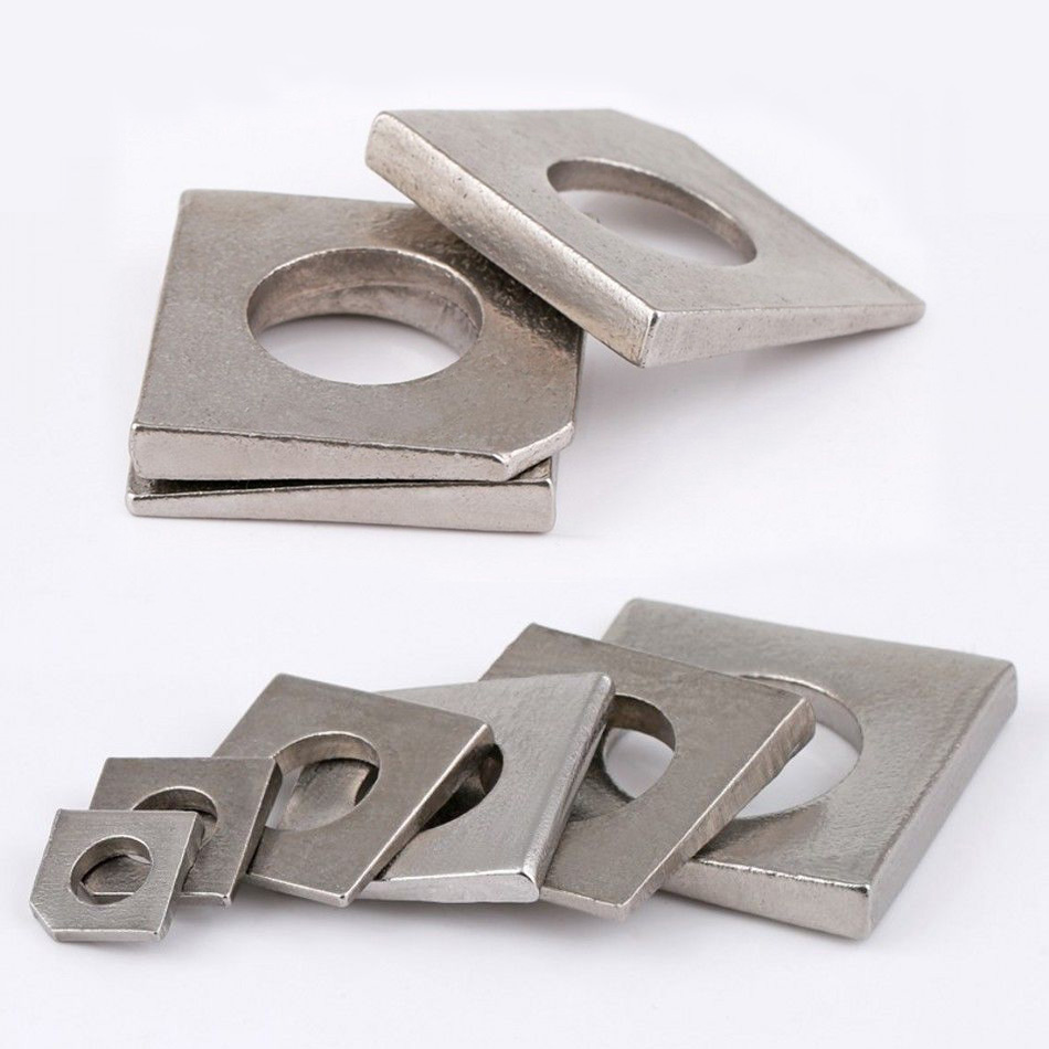 Details about New 304 A2 Stainless Steel Metric Square Bevel Washers Beam  Flange Wedge M6~M20