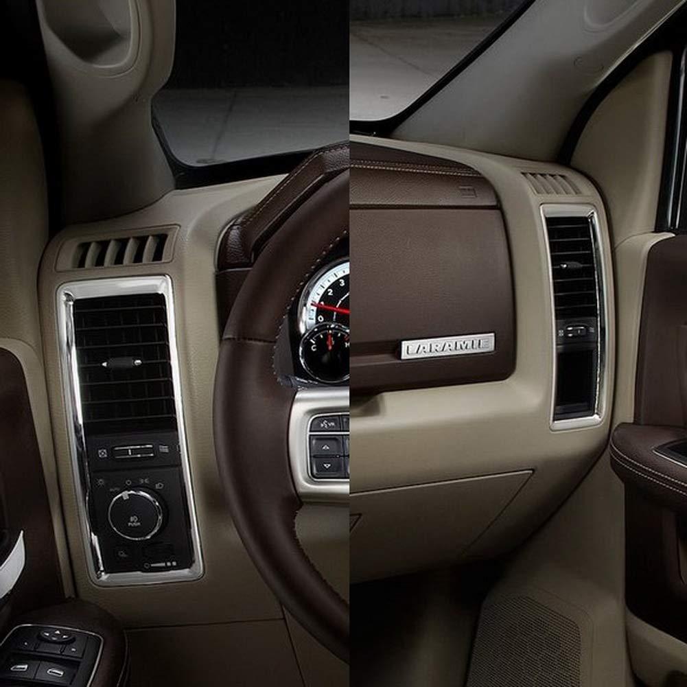 JSTOTRIM chrome rear double door linear kick plate trim for 2018 Dodge RAM 1500