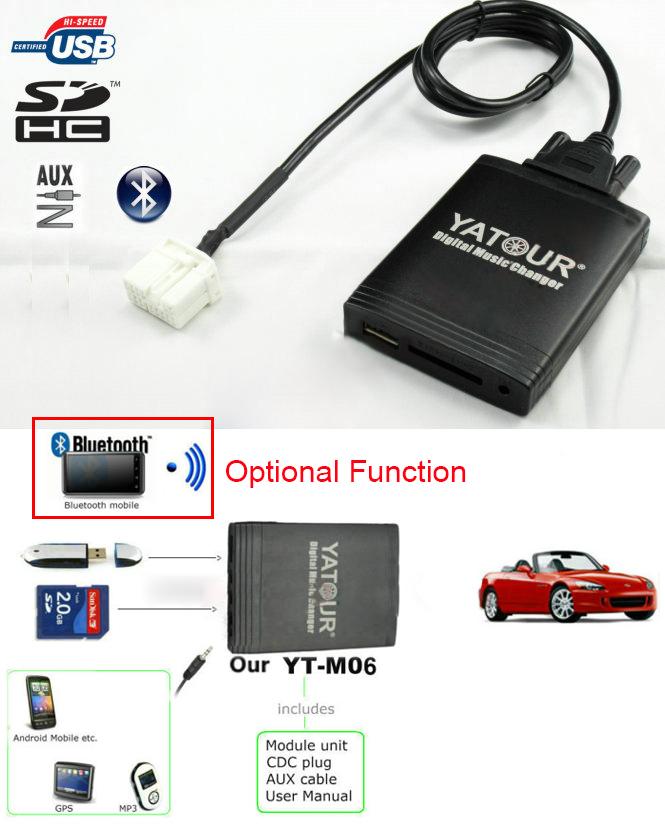 Bluetooth USB SD mp3 cambiador CD 12-pin para audi Radio Chorus Concert Symphony 3