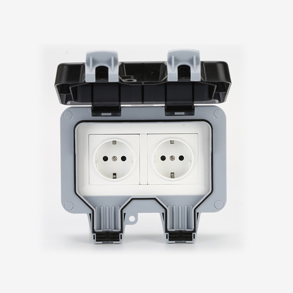 220v Ip66 Waterproof Outdoor Wall Switched Socket Case Cover Box Easy Install