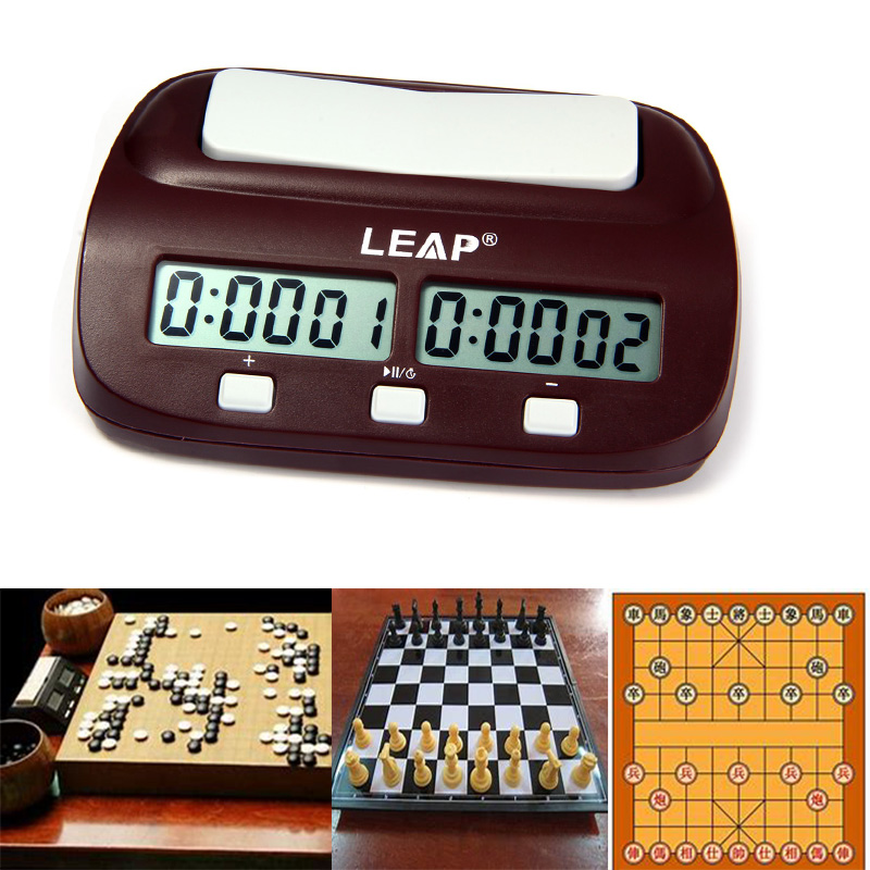 Professional Digital Chess Clock I-go Count Up Down Timer for Game Competition