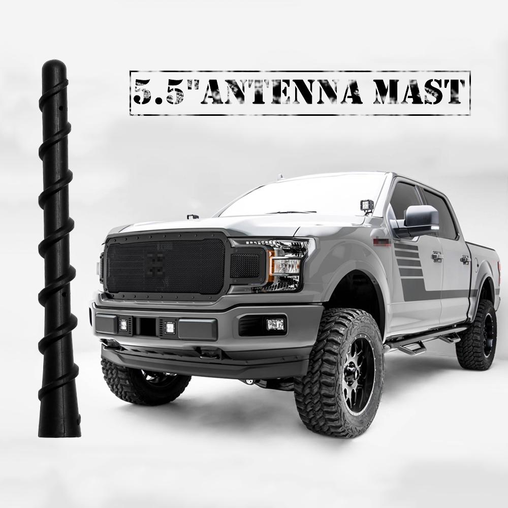 8/'/' Copper Antenna Mast For 2009-2019 Ford F150-F350 Raptor Dodge Ram1500-4500