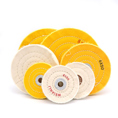 """2//5/"""" Inner Hole White Cotton Cloth Polishing Wheel For Jewelry Buffing 2/""""~12/"""""""