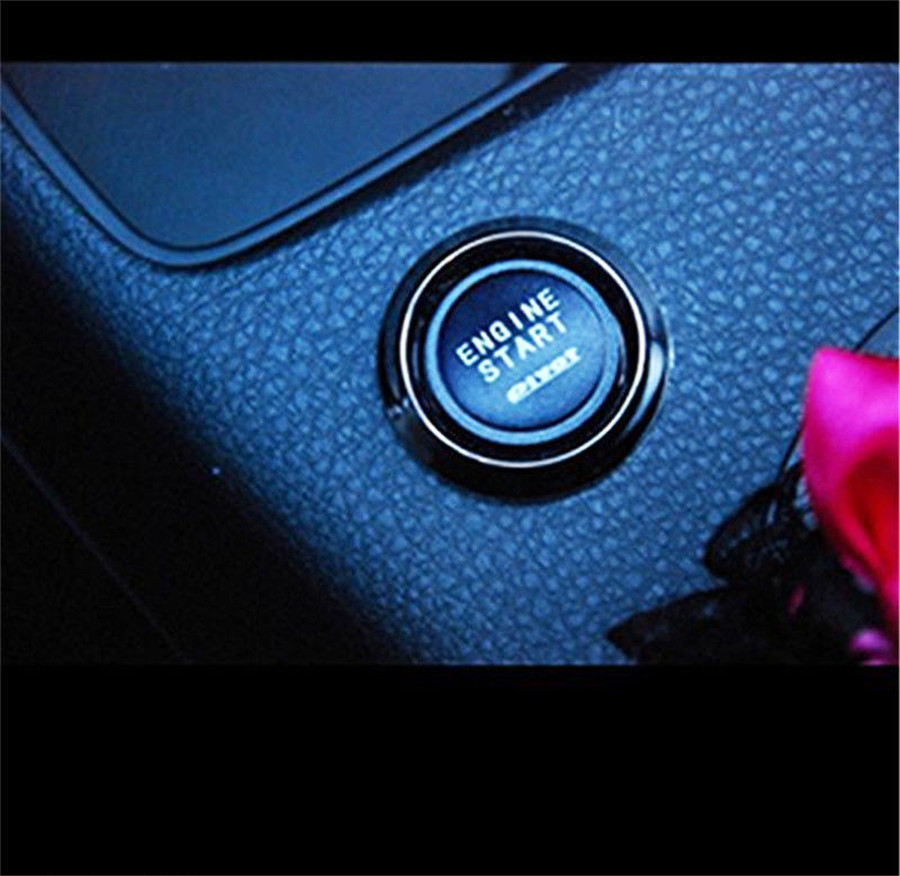 Car Red Matte Engine Starter Push Button Switch Relay Box ...