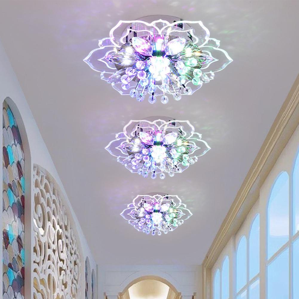 Crystal LED Light Modern Round Ceiling Chandelier Lamp Pendant Living Room Lamp