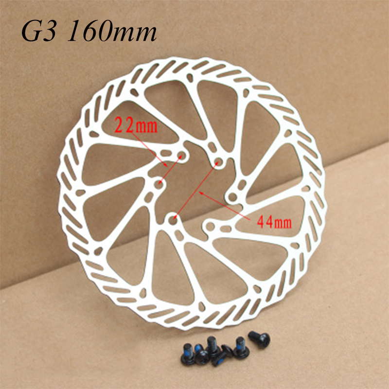 "Brand New AVID G3CS G3 Brake Rotors 160mm 6/"" Disc 2PCS 12 Blots BB5//BB7 MTB"