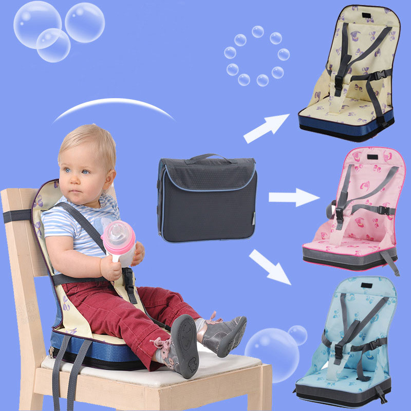 Baby Toddler Kids Infant Portable Booster Seat for Eating Folding Dining Chair