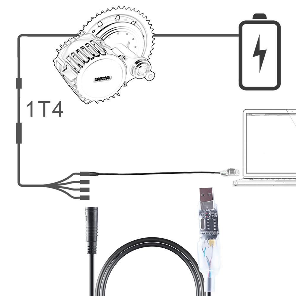 Center Motor eBike USB Programming Cable for  Bafang BBS01 02 BBSHD Mid Drive