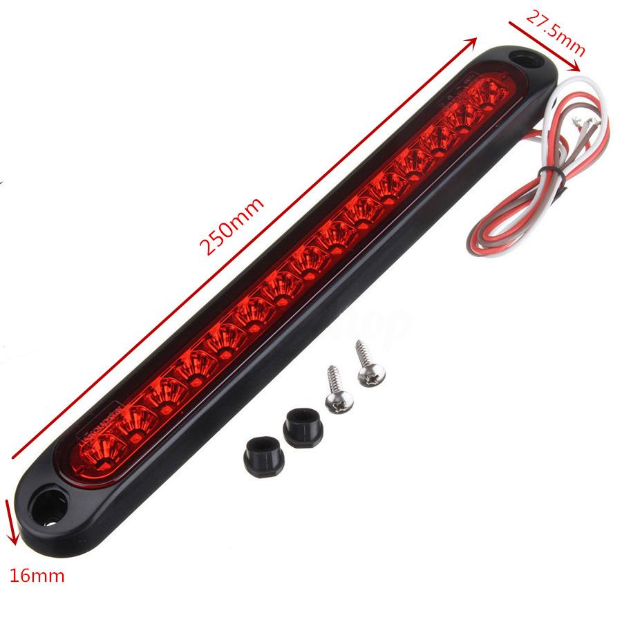 Waterproof Car Truck Ultra Slim Tail Led Stop Brake Light Bar Strip Wiring 1985 Nissan Pickup Signal Lamp