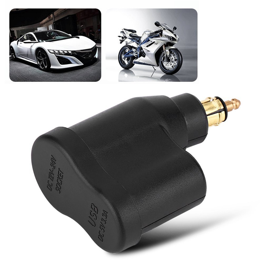 motorrad usb ladeger t charger zigarettenanz nder adapter. Black Bedroom Furniture Sets. Home Design Ideas