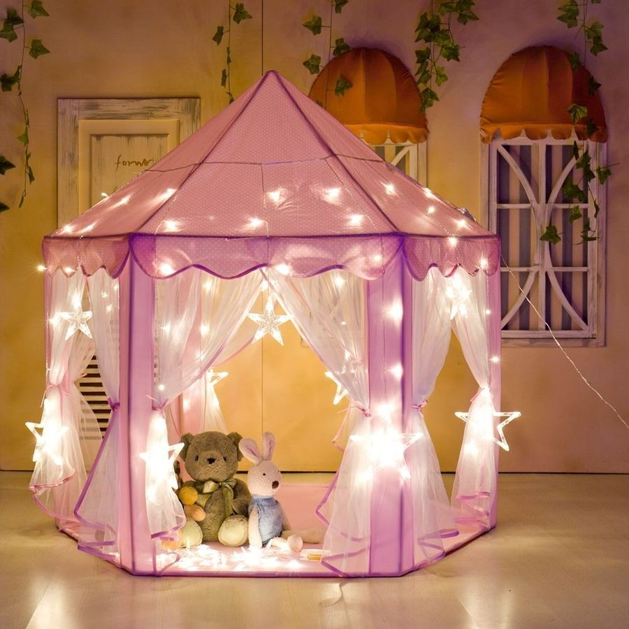 Tent For Kids Part - 34: Pink Princess Castle Playhouse Girls Play Tent Children Kids Cute Outdoor  Toy