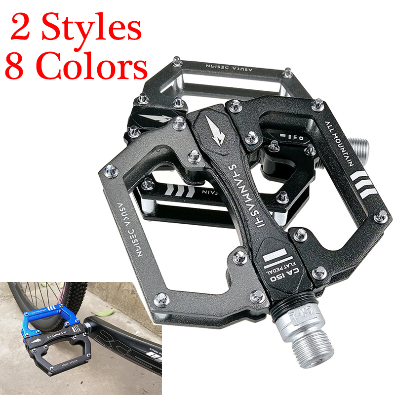 "RockBros Bike Bicycle Pedals Aluminum Alloy Platform Sealed Bearing Axle 9//16/"""