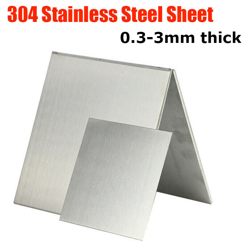 """0.5/"""" Mill Stock 304 Plate 8/"""" Length 1//2/"""" x 3/"""" Stainless Steel Flat Bar"""