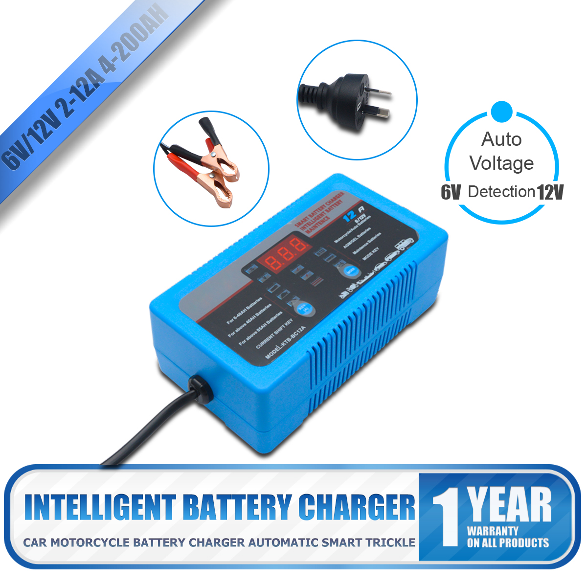 6v 12v 2a 8a 12a Smart Battery Charger For Car Motorcycle 4 200ah Failure Detector The Circuit Pulse Repair Ebay