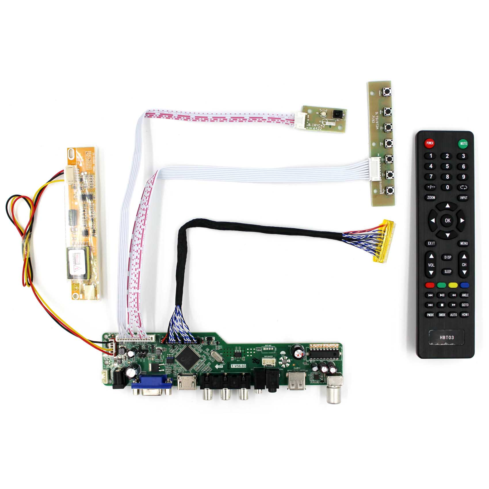 cde3365f432 Details about HDMI VGA AV USB RF LCD Controller Board for 16.4inch 1600x900  30PIN LCD panel