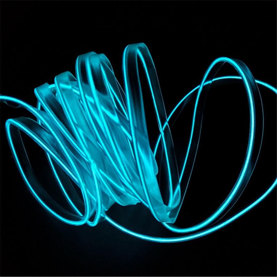 5m 3mm Glow Optic Fiber Cable Insert Hem Car Interior Panel Light Accessories Ebay
