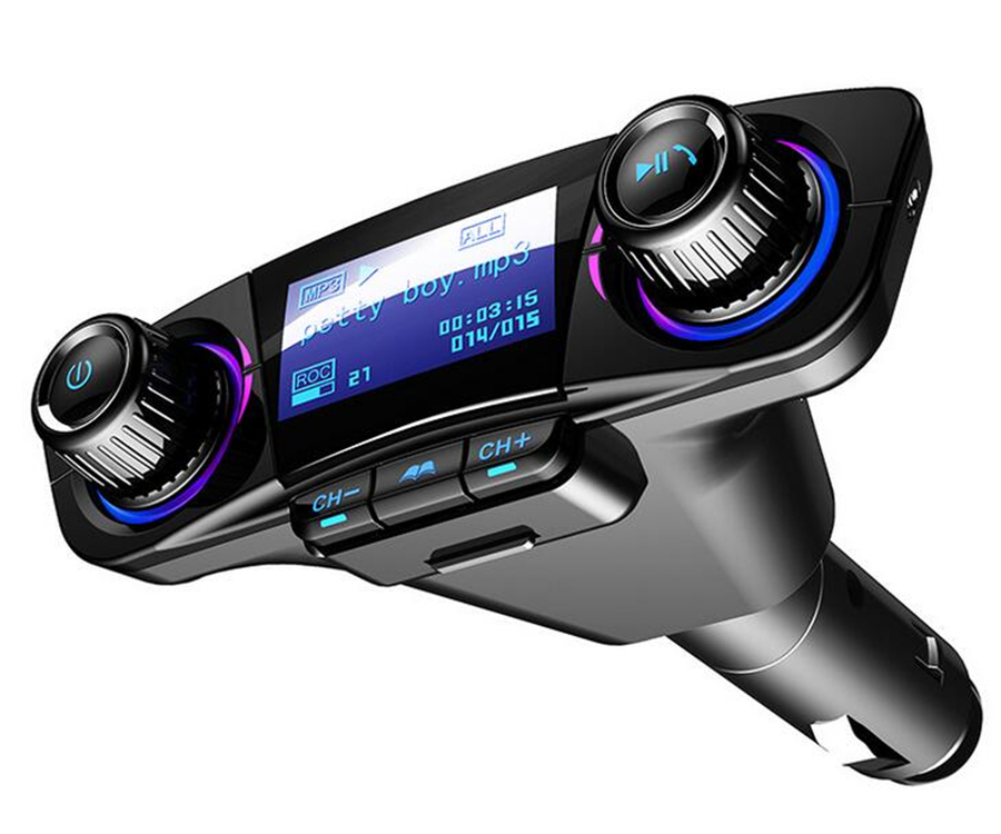 Bluetooth Handsfree Car Kit Radio Mp3 Player Fm Transmitter USB Charger /& AUX