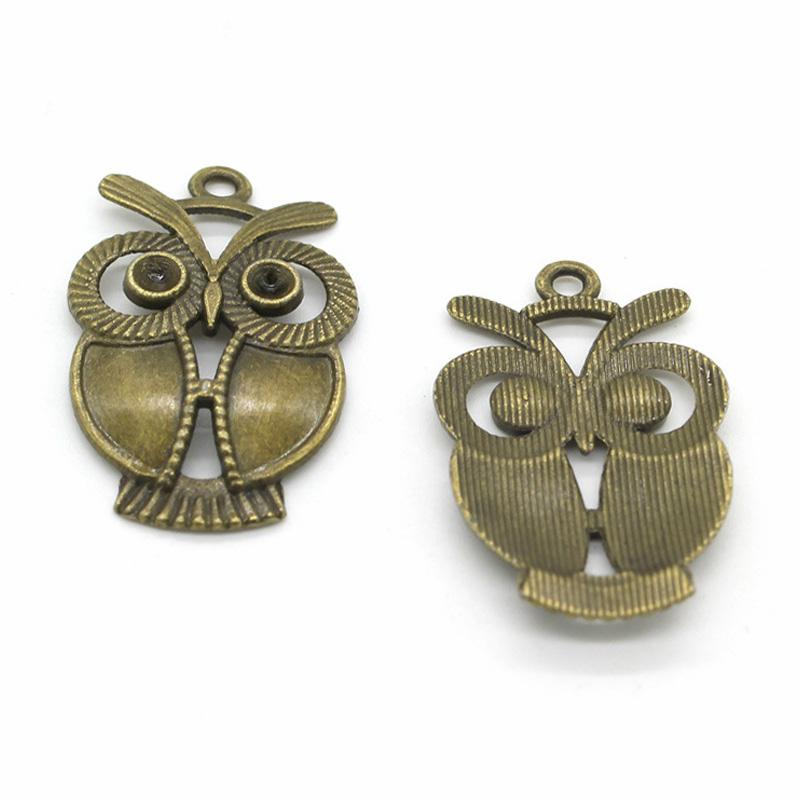 20pcs Mix Vintage Owl Pendants Necklace Bead Jewelry Ethnic Style Craft Make DIY